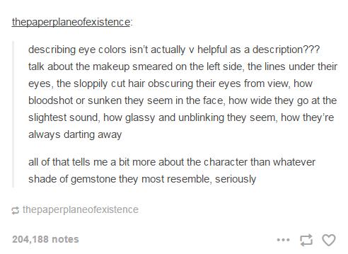 Describing eye color