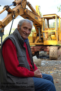 Portrait of Germano Nardini Stone Quarry owner 83 years old Italy