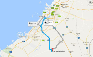Al Qudra Lake Map Direction