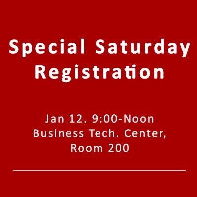 special Saturday registration
