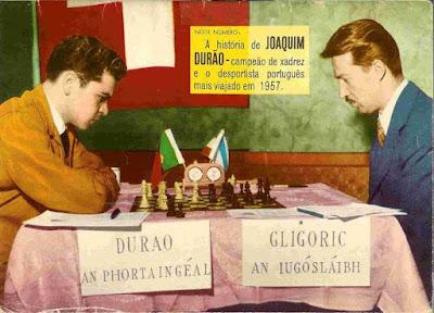 Partida de ajedrez Joaquim Durão - Svetozar Gligoric, Dublín 1957