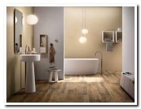 Top wood look tile bathroom walls