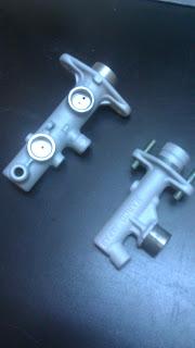 sandblasting brake master cylinder powder coating