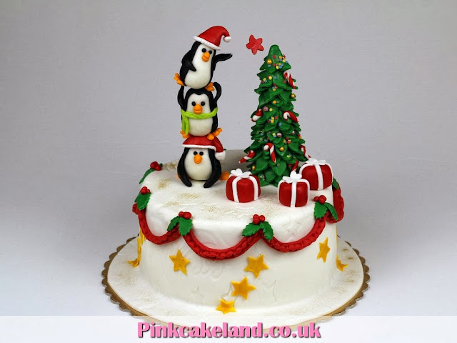 Christmas Cake in London - Pinkcakeland.co.uk