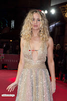 Jennifer Lawrence in a golde glittering gown at Red Sparrow Premiere in London ~  Exclusive Galleries 020.jpg