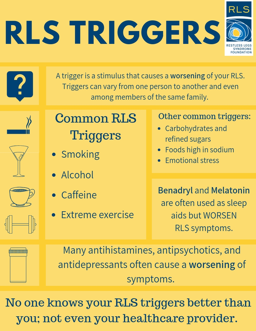 Triggers That May Worsen RLS - Restless Legs Syndrome