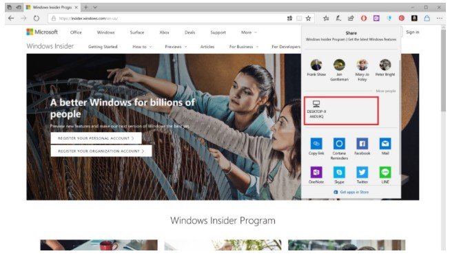 Near Share in Windows 10 Let's You to Wirelessly Share Files in Windows 10