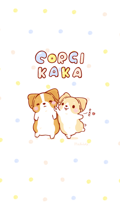 Corgi Dog KaKa - Polka Dots