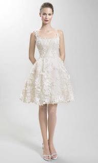 Vestido de noiva simples curto