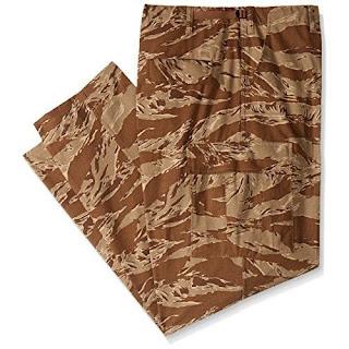 Tru-Spec Men's Rip Stop BDU Pant, Desert Tiger Stripe, Small