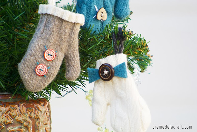 small christmas craft ideas diy mini mitten ornaments from an sweater 5437