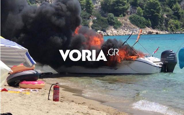 4χρονο κοριτσάκι τραυματίστηκε από έκρηξη ταχύπλοου σκάφους στη Χαλκιδική