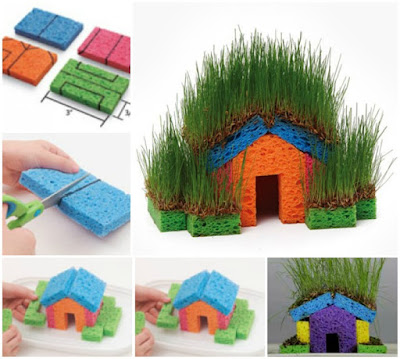 grass-seed-sponge-house-summer-activity-for-kids