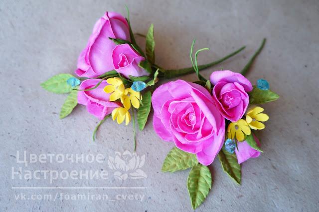 бутоньерка для жениха с розой