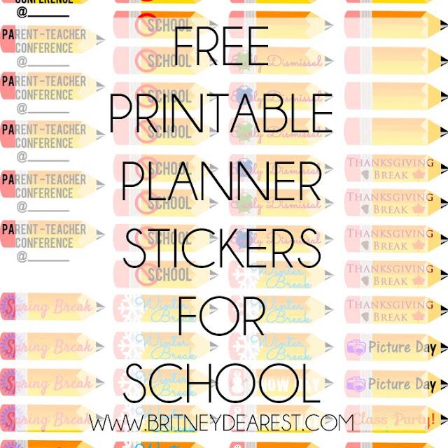 Printable, Download, Planner, Stickers, School