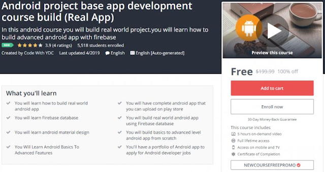 [100% Off] Android project base app development course build (Real App)| Worth 199,99$