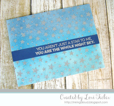 The Whole Night Sky card-designed by Lori Tecler/Inking Aloud-stamps from My Favorite Things