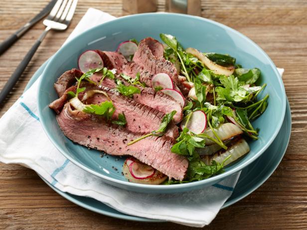 25-Minute Flank Steak with Charred Vidalia Onion Salad