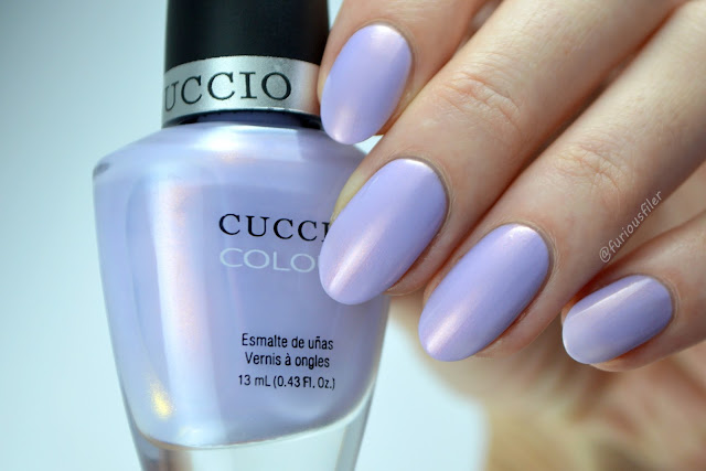 cuccio colour cruise collection violet peach shimmer
