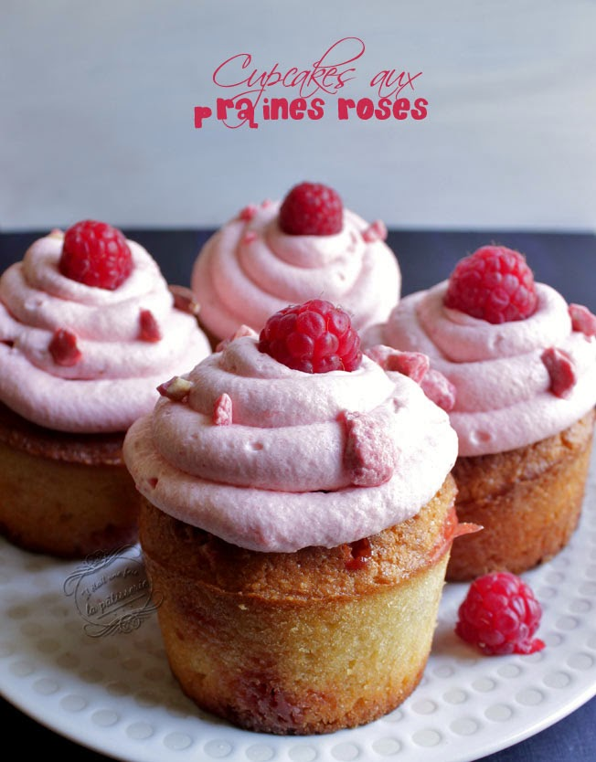 cupcakes framboise pralines roses