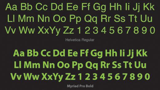 Cách thức chọn Fonts và Typefaces | RGB vn – Chuyên trang Thiết kế