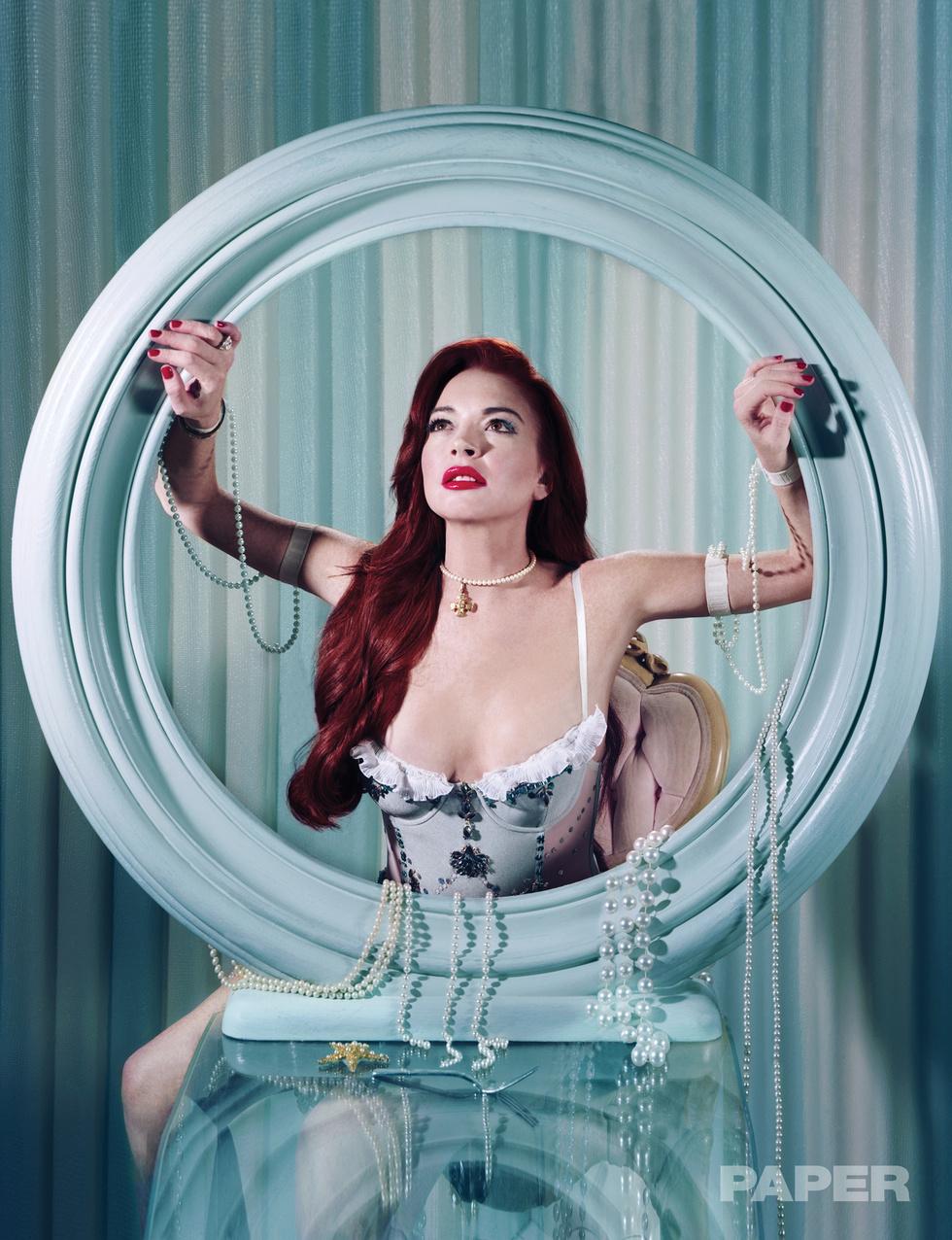 Линдси Лохан снялась в образах принцесс для журнала Paper  Линдсей Лохан