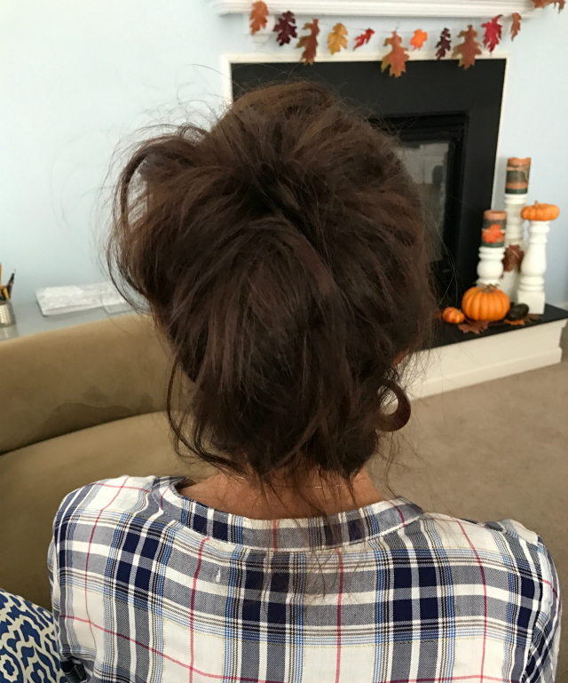 Fun Messy Bun - Back view