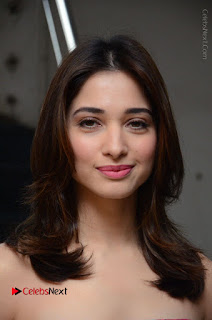 Actress Tamanna Latest Images in Floral Short Dress at Okkadochadu Movie Promotions  0019.JPG