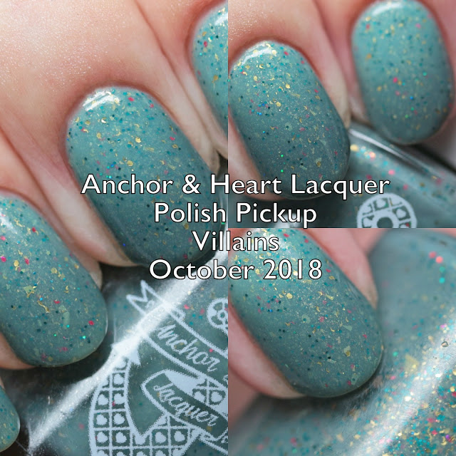 Anchor & Heart Lacquer Polish Pickup Villains October 2018