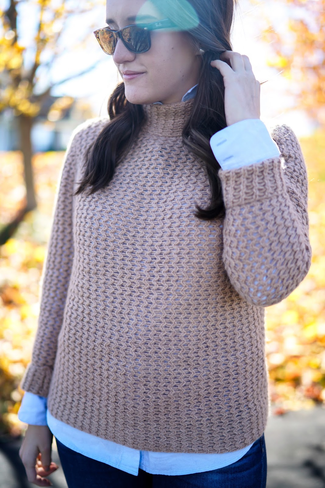 Layers for Fall, Halogen Mock Cashmere Sweater