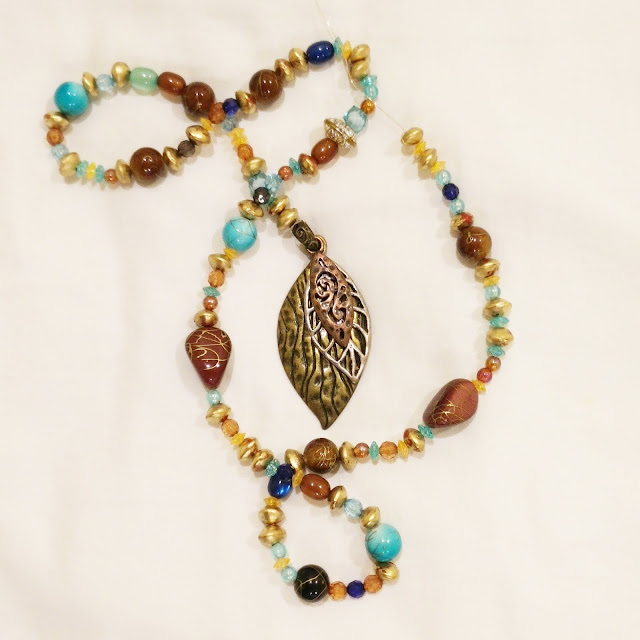 turquoise, gold and brown beaded accessories for Daenerys Qarth dress from Game of Thrones