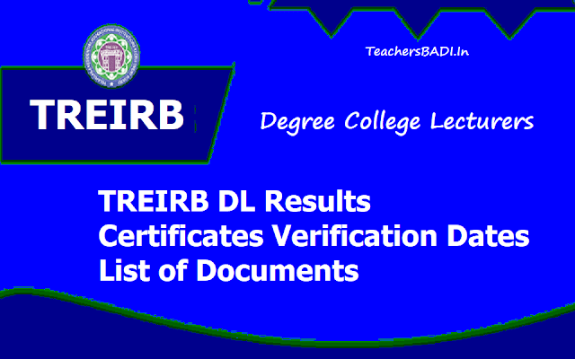TREIRB DL Results, Certificates verification dates