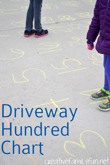 Get moving and learning with a driveway hundred chart. It's a fun and active way to practice math.