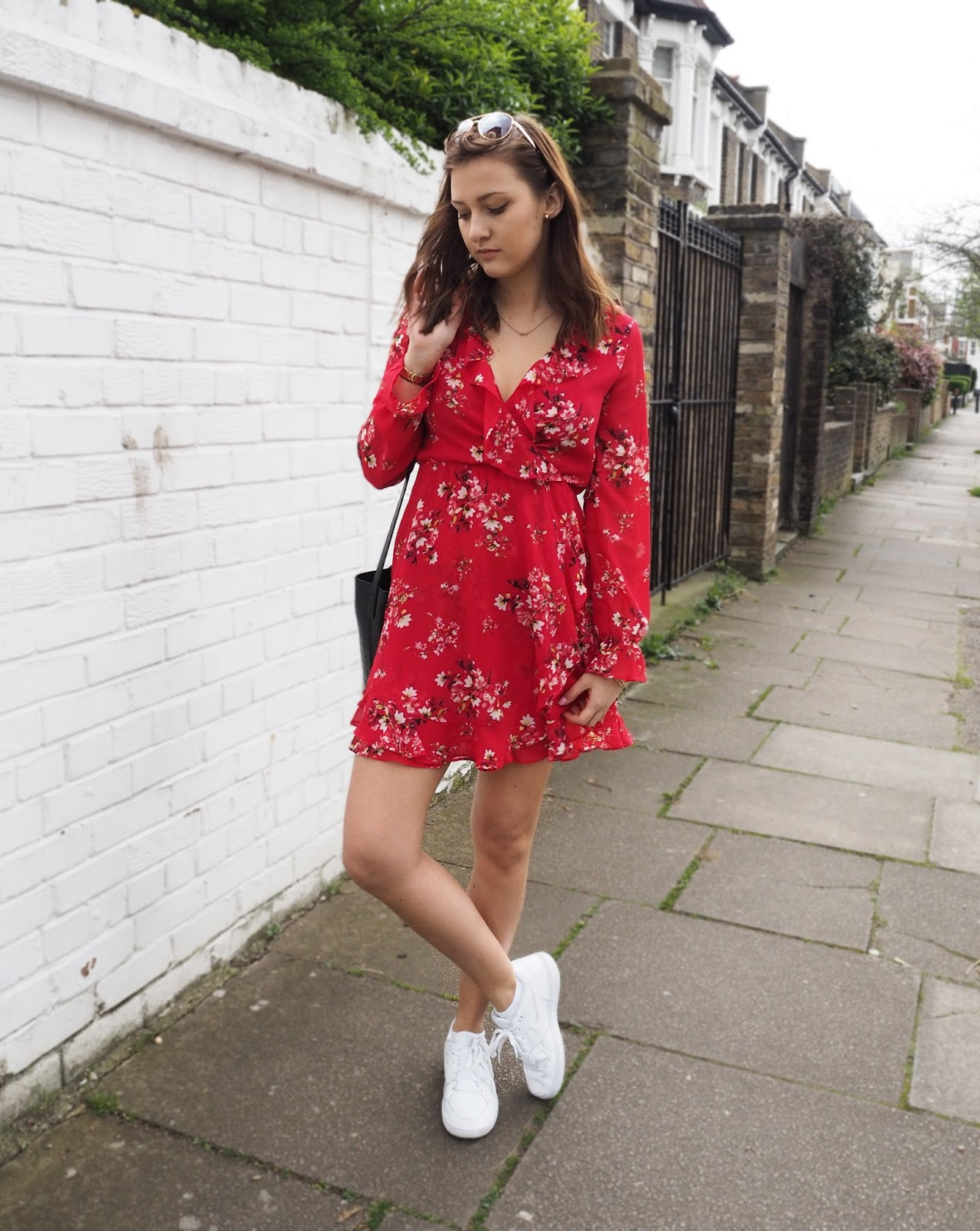 Lauren Rose Style / Lady In Red / Spring Floral Dress / Fashion & Personal Style Blogger London / OOTD WIWT TREND SS17 / H&M