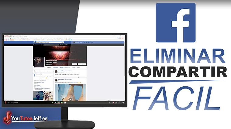 Como Quitar la Opcion de COMPARTIR de Facebook - Facil y Rapido