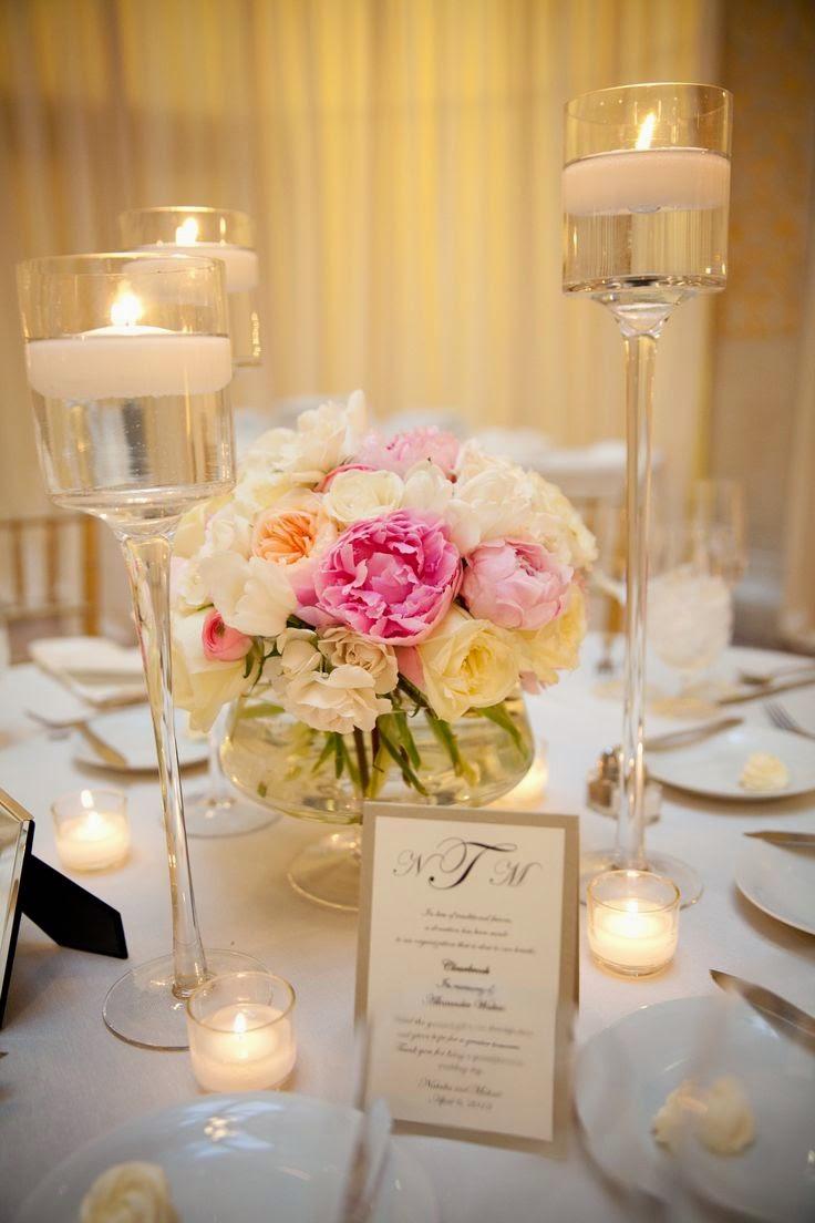 Velas bonicas centros de mesa con velas - Centros de boda ...