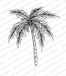 Impression Obsession Stamp - Palm Tree 17091
