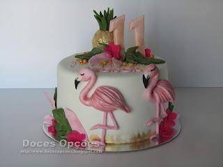 Bolo de aniversário Flamingo