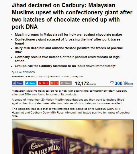 jihad on cadbury