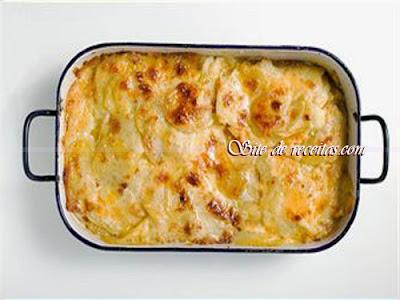 Batatas ao creme gratinado de 2 queijos