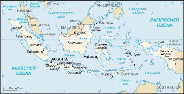 Indonesien Karte Physisch.Politische Landkarte Von Indonesien 2011 Deutsch Weltatlas