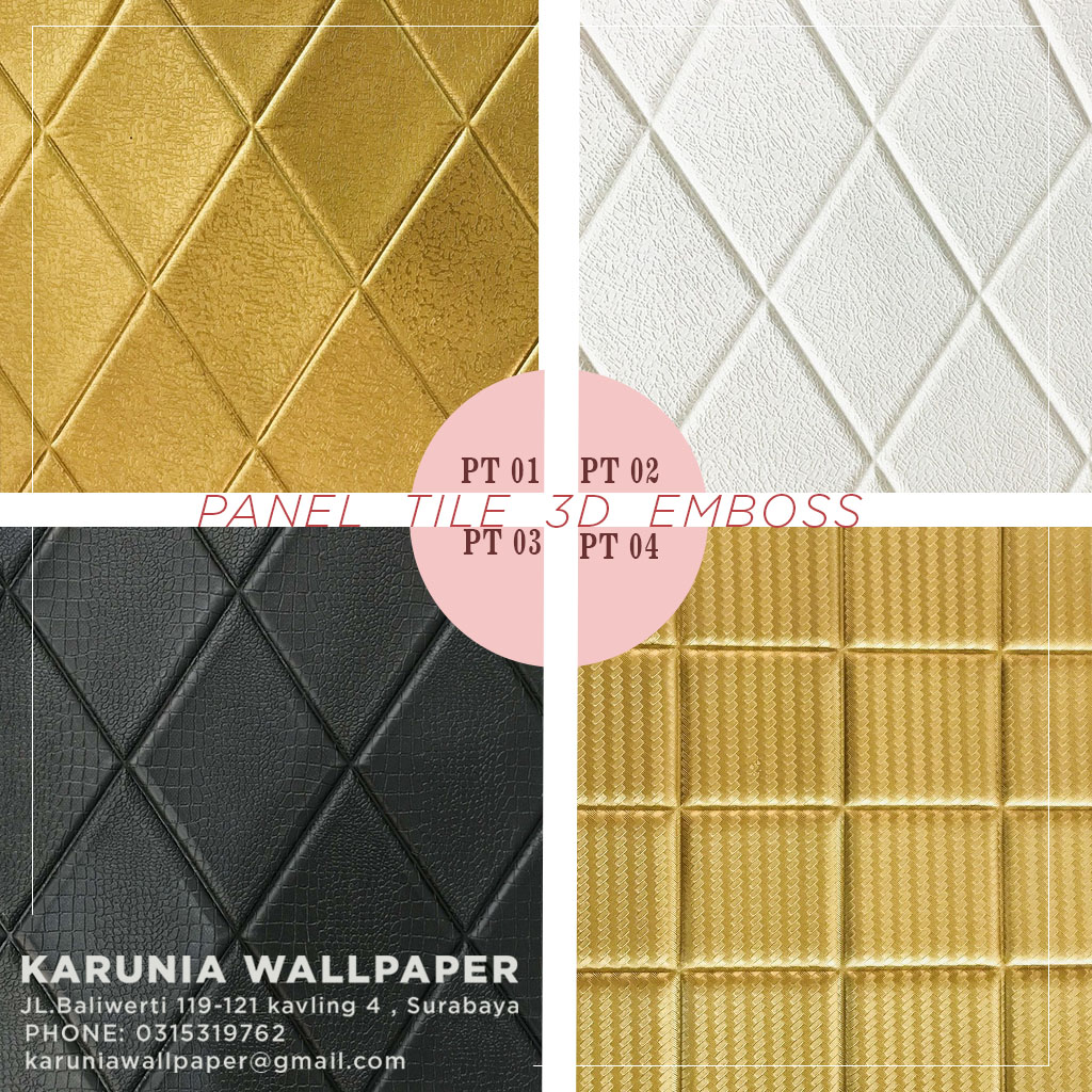 jual tile panel 3 dimensi timbul emboss toko karuniawallpaper