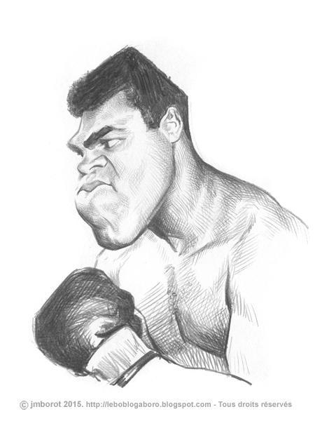 Caricatura de Muhammad Ali por Jean-Marc Borot