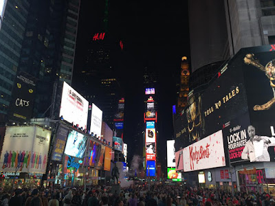 Times square at night New York