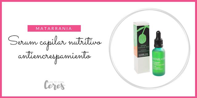 serum campilar nutritivo antiencrespamiento de Matarrania