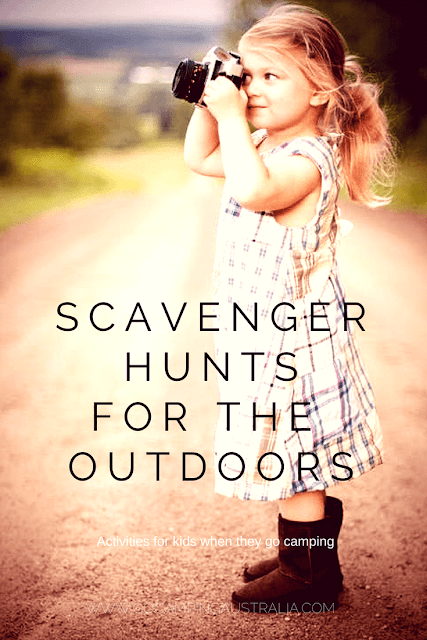 Outdoors camping scavenger hunts
