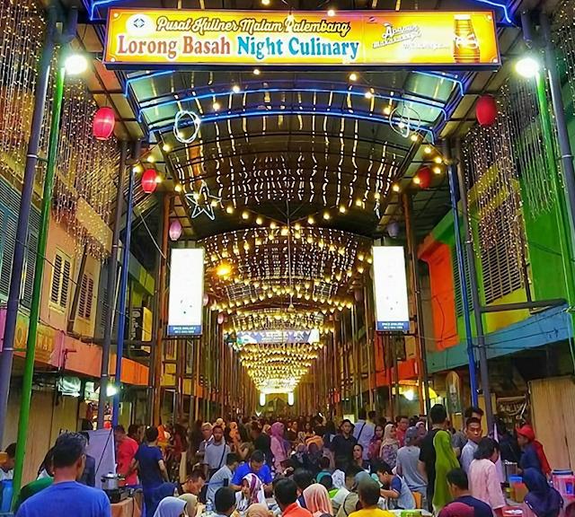 Wisata Kuliner Malam Lorong Basah Palembang