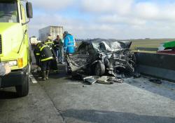 La senadora Szelagowski sufrió un grave accidente en la ruta 226
