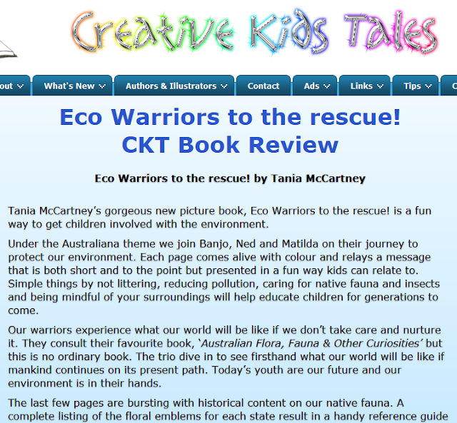 http://www.creativekidstales.com.au/authors/CKT-book-reviews/tania-mccartney/Eco-Warriors-to-the-rescue-review.html
