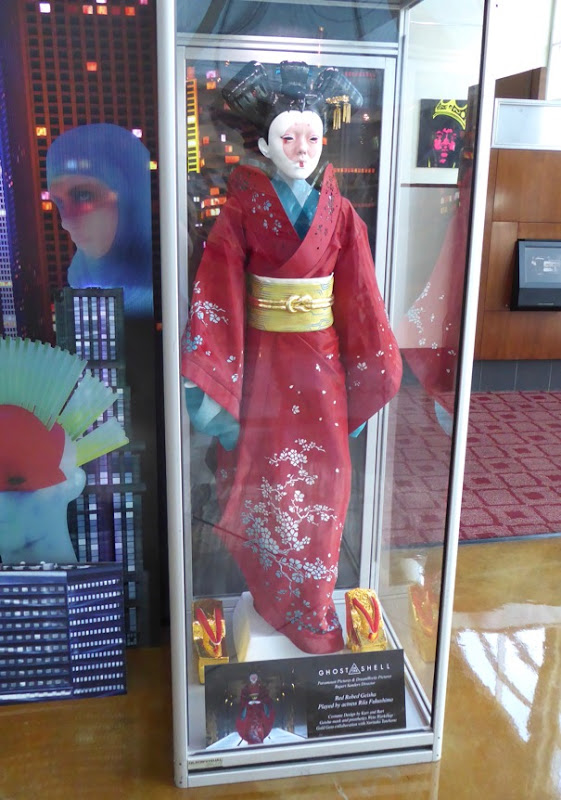 Rila Fukushima Ghost in the Shell Red Robed Geisha costume